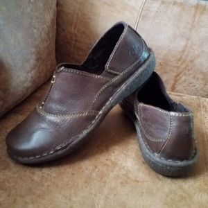 BORN Brown Leather Loafer